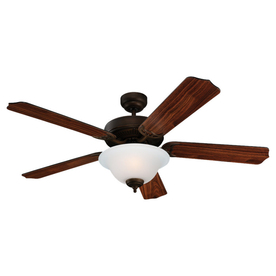 Sea Gull Lighting 52-in Quality Max Plus Roman Bronze Ceiling Fan with Light Kit ENERGY STAR