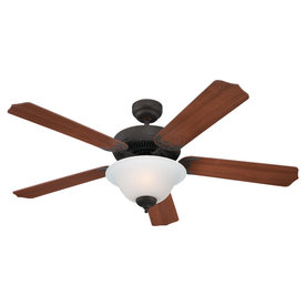 Sea Gull Lighting 52-in Quality Max Plus Misted Bronze Ceiling Fan with Light Kit ENERGY STAR