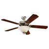 Sea Gull Lighting 52-in Quality Max Plus Brushed Pewter Ceiling Fan with Light Kit ENERGY STAR