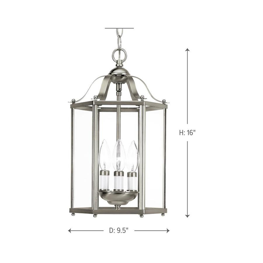 Brushed Nickel Finish Sea Gull Lighting 65941BLE-962 Pendant with Alabaster/Glass Shades