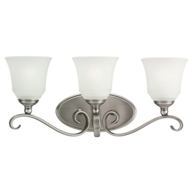 Sea Gull Lighting 3-Light Parkview Antique Brushed Nickel Bathroom Vanity Light