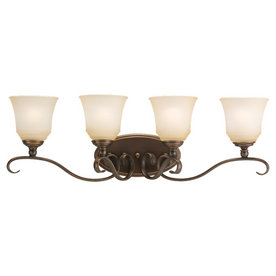 Sea Gull Lighting 4-Light Parkview Russet Bronze Bathroom Vanity Light