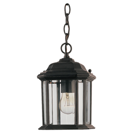 Sea Gull Lighting 10-in Black Outdoor Pendant Light