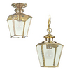 Sea Gull Lighting 11-in H Polished Brass Outdoor Pendant Light