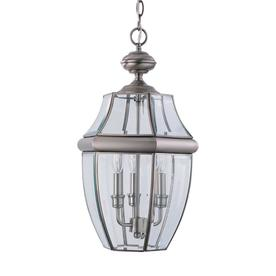 Sea Gull Lighting 20.75-in H Antique Brushed Nickel Outdoor Pendant Light