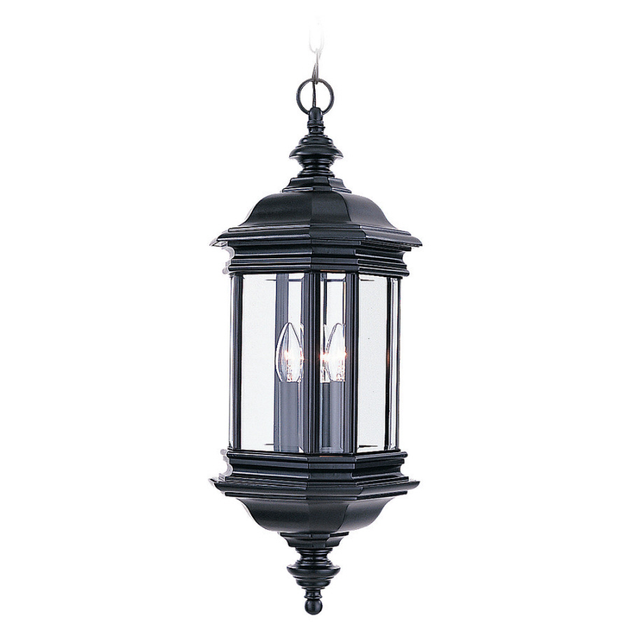 Outdoor Hanging Lanterns Lowes: Shop Sea Gull Lighting 25-in H Black Outdoor Pendant Light