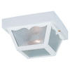 Sea Gull Lighting 8-1/4-in White Outdoor Flush-Mount Light