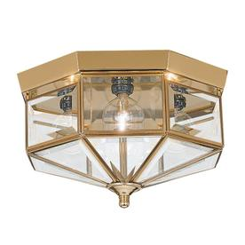Sea Gull Lighting 11-in W Polished Brass Ceiling Flush Mount
