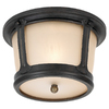 Sea Gull Lighting 10-1/2-in Burled Iron Outdoor Flush-Mount Light