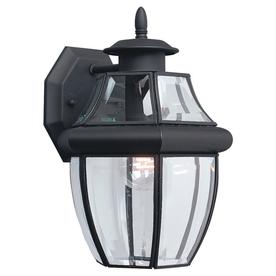 Sea Gull Lighting 12-in H Black Outdoor Wall Light