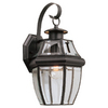 Sea Gull Lighting 14-in Black Outdoor Wall Light