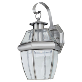 Sea Gull Lighting 14-in H Antique Brushed Nickel Outdoor Wall Light