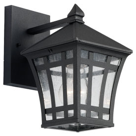 Sea Gull Lighting 9-7/8-in Black Outdoor Wall Light