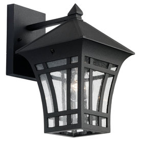 Sea Gull Lighting 11-9/16-in Black Outdoor Wall Light