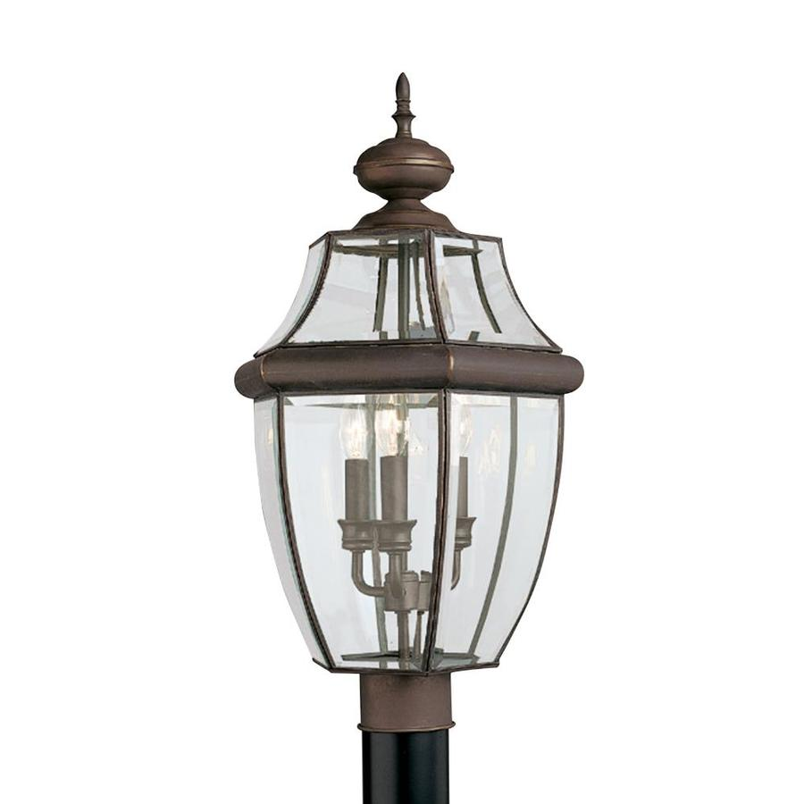 sea gull lighting 3 light lancaster outdoor post fixture at