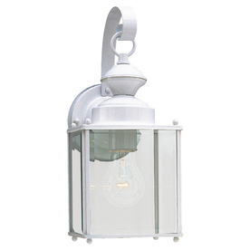 Sea Gull Lighting 12-1/2-in White Outdoor Wall Light