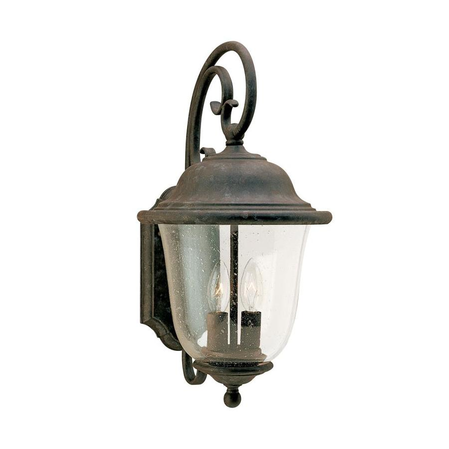 Shop Sea Gull Lighting 18 In H Oxidized Bronze Outdoor Wall Light At