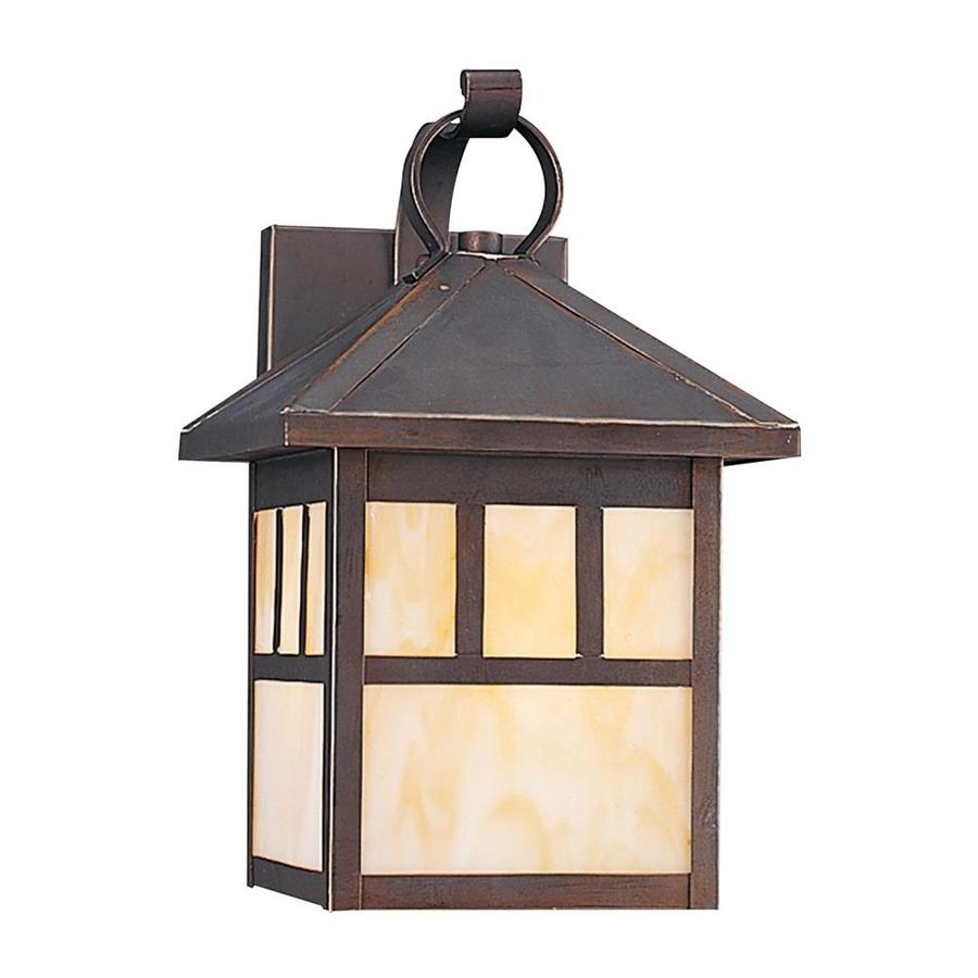 Outdoor Wall Light Fixtures Lowes : Shop Sea Gull Lighting 11.25-in H Antique Bronze Outdoor Wall Light at Lowes.com