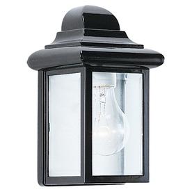 Sea Gull Lighting 8.75-in H Black Outdoor Wall Light