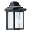 Sea Gull Lighting 8-3/4-in Black Outdoor Wall Light
