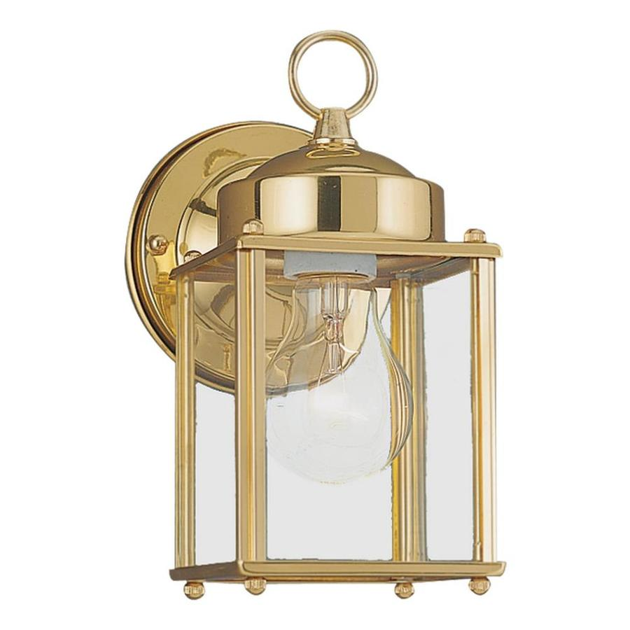 Shop Sea Gull Lighting H Polished Brass Outdoor Wall Light At