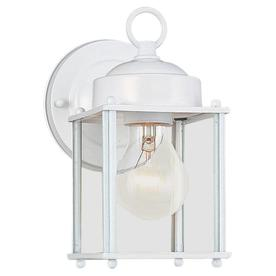 Sea Gull Lighting 8.25-in H White Outdoor Wall Light