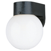 Sea Gull Lighting 7-1/4-in White Plastic Outdoor Wall Light