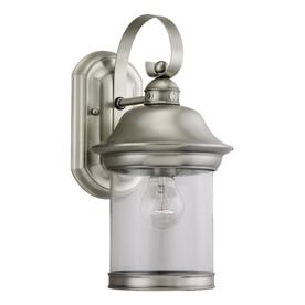 Sea Gull Lighting 13.5-in H Antique Brushed Nickel Outdoor Wall Light