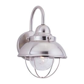 Sea Gull Lighting 11-1/4-in Brushed Stainless Outdoor Wall Light