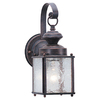 Sea Gull Lighting 11-1/4-in Textured Rust Patina Outdoor Wall Light