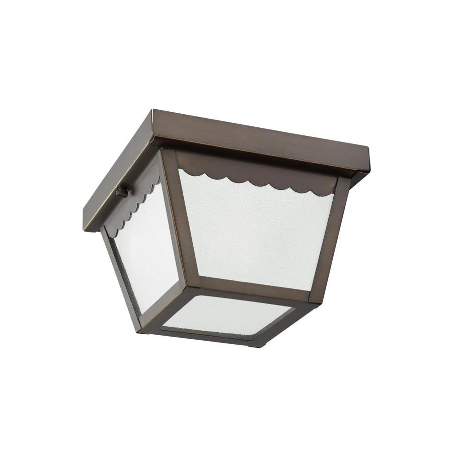 Shop Sea Gull Lighting Outdoor Ceiling 7 5 In W Antique Bronze Outdoor Flush