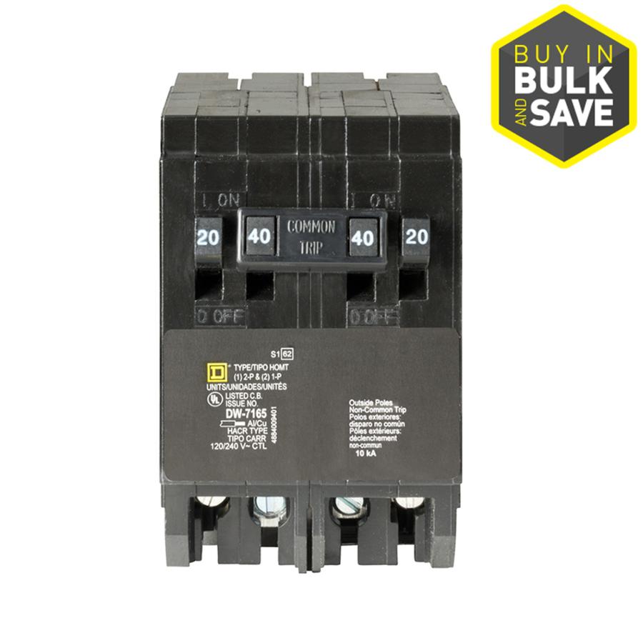 Shop Square D Homeline 40 Amp Quad Circuit Breaker At