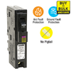 Square D Homeline 15-Amp 1-Pole Dual Function AFCI/GFCI Circuit Breaker