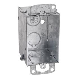 STEEL CITY 12-1/2 cu in 1-Gang Old Work Metal Electrical Box