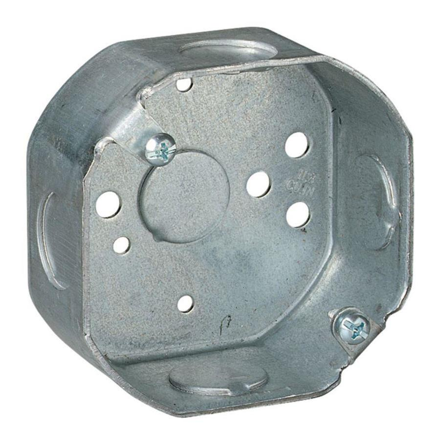 Shop STEEL CITY 11 8 Cu In Metal Round Wall Electrical Box At