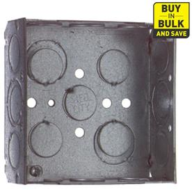 STEEL CITY 21 cu in 2-Gang Square Metal Electrical Box