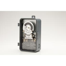TORK 40-Amp Mechanical Residential Hardwired Lighting Timer