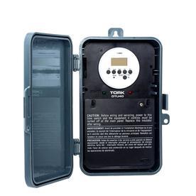 TORK 40-Amp Digital Residential Hardwired Lighting Timer