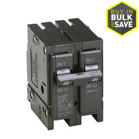 shop circuit breakers load centers fuses at lowes com display product reviews for type br 20 amp double pole circuit breaker