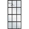 Coastal Shower Doors Gridscape Series 36-in to 36-in Oil-Rubbed Bronze Fixed Panel Shower Door