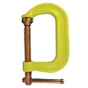 BESSEY Hivis Yellow Frame Regular-Duty Drop Forged C-Clamp, 4