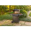 Char-Griller Grillin Pro Black 3-Burner (40,800-BTU) Liquid Propane Gas Grill with Side Burner