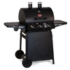 Char-Griller Grillin Pro Black 3-Burner (40,800-BTU) Liquid Propane Gas Grill with Side Burner