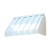 Americana Building Products 2-ft 11-in Wide x 1-ft 10-in Projection White Slope Window Awning