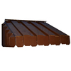 Americana Building Products 50-in Wide x 22-in Projection Brown Solid Slope Window Awning