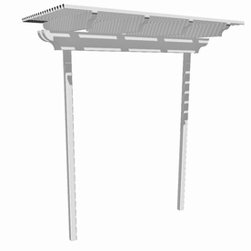 Americana Building Products 96-in W x 96-in H White Freestanding Two Post Garden Arbor