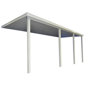 Americana Building Products 20-ft Wide x 12-ft Projection White Slope Patio Awning