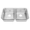 American Standard Prevoir 26-in x 38-in Radiant Silk Double-Basin Stainless Steel Undermount Residential Kitchen Sink
