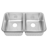 American Standard Prevoir 22.5-in x 21.5-in Radiant Silk Double-Basin Stainless Steel Undermount Residential Kitchen Sink
