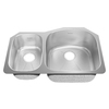 American Standard Previor Double-Basin Undermount Stainless Steel Kitchen Sink